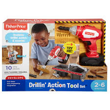 Fisher Price DVH16 Drillin' Action Tool Set
