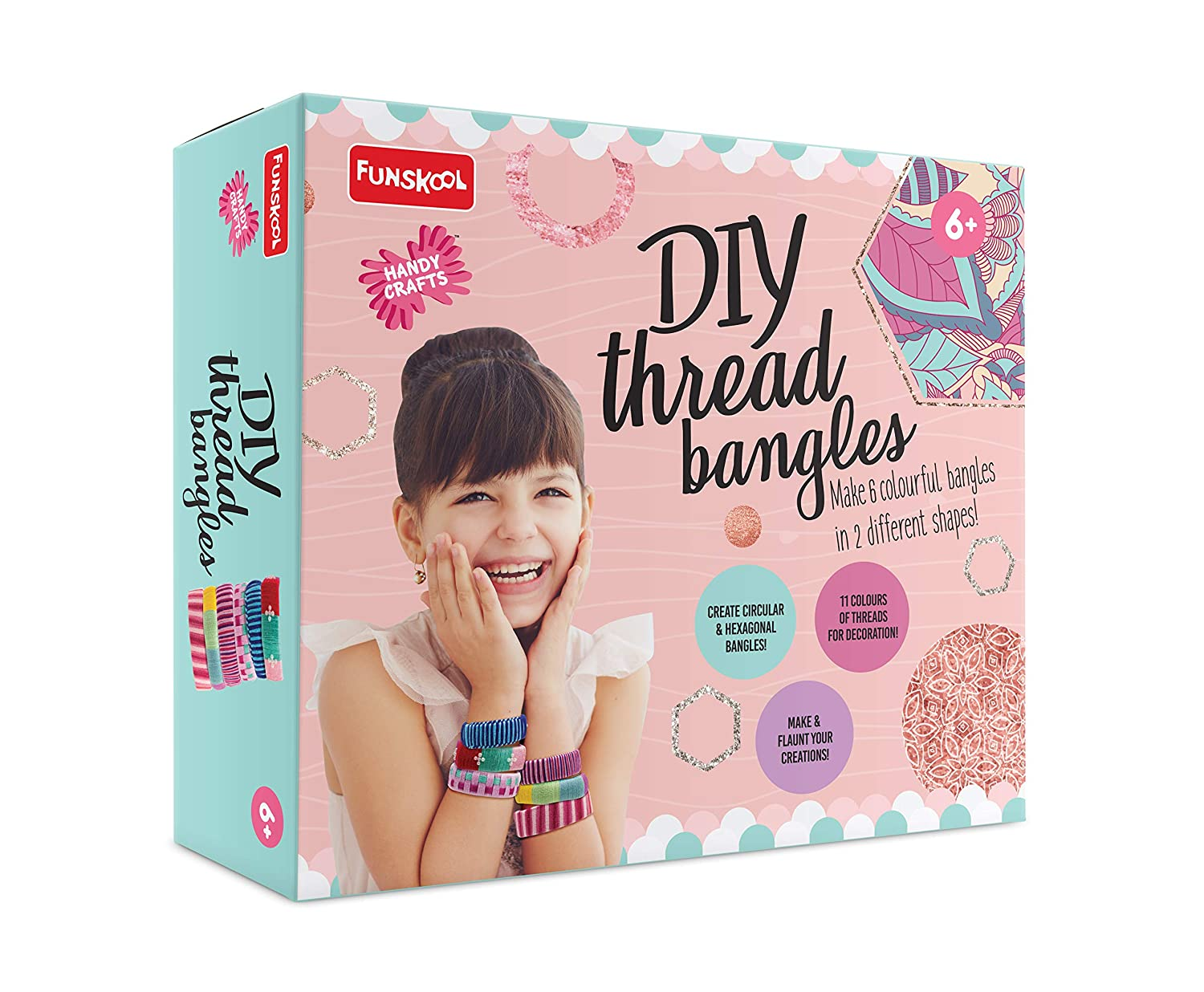 Funskool Handy Crafts DIY Thread Bangles
