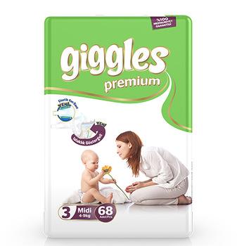 Giggles Jumbo Pack 5-9 Kg Midi 68 Pcs