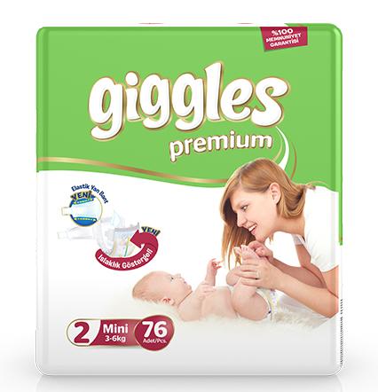 Giggles Premium Jumbo Pack 3-6 Kg Mini 76 Pcs