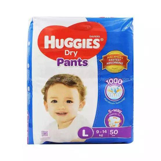 Huggies Dry Pants Baby Diaper Pant L 9-14 kg