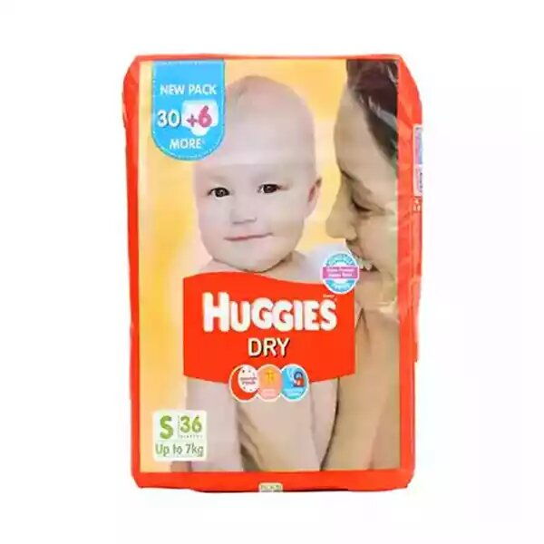 Huggies Baby Diaper Dry Belt S (up to 7 kg)