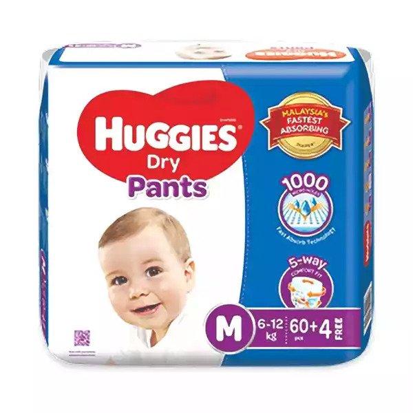 Huggies Dry Pants Baby Diaper Pant M 6-12 kg