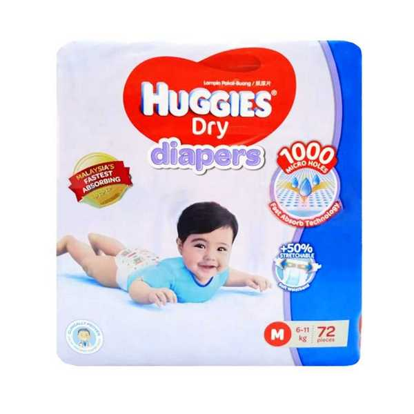 Huggies Dry Baby Diaper Belt M 6-11 kg
