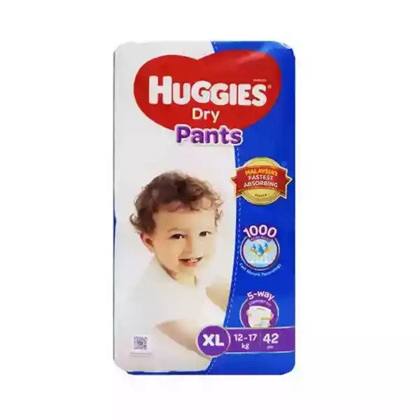 Huggies Dry Pants Baby Diaper Pant XL 12-17 kg