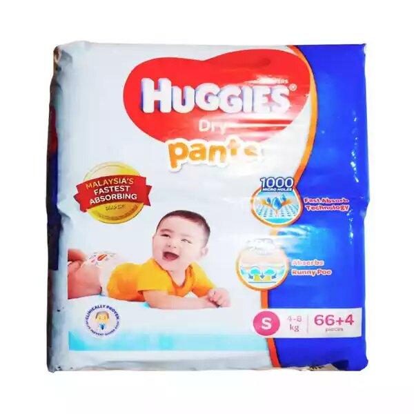 Huggies Dry Pants Baby Diaper Pant S 4-8 kg