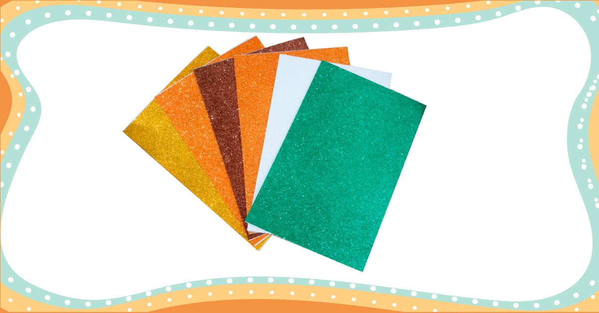 A4 Glitter Foam Paper