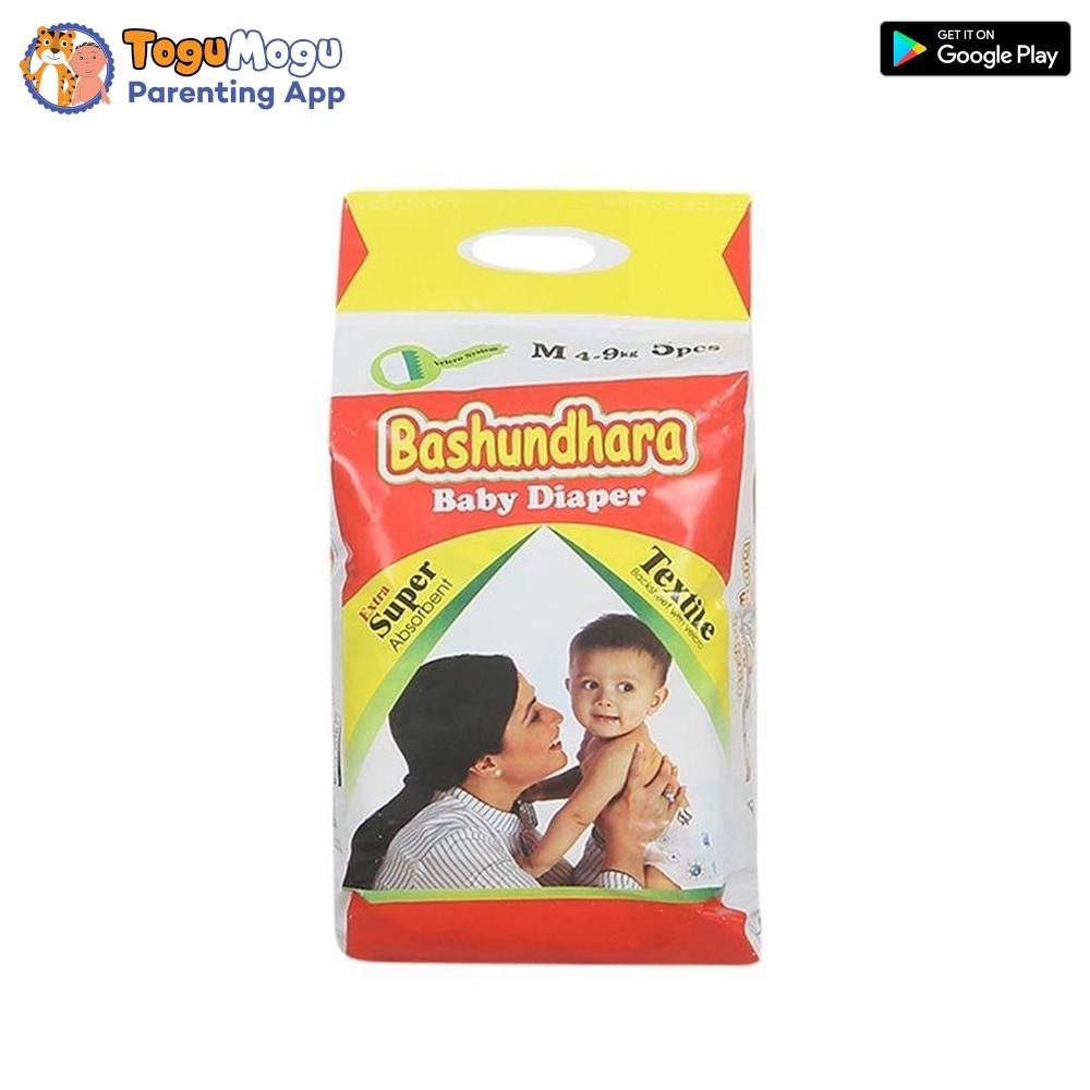 Bashundhara Baby Diaper Belt M (4-9 kg) 5 pcs