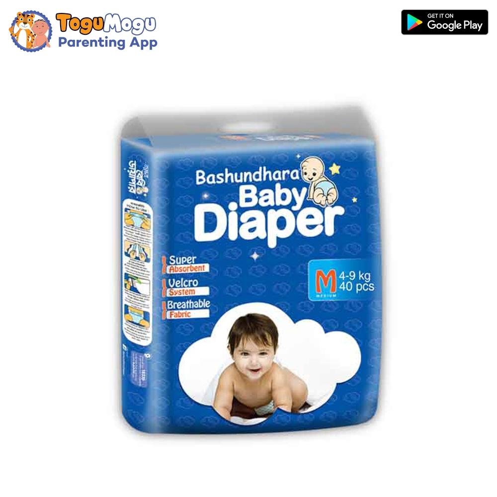 Bashundhara Baby Diaper Belt M (4-9 kg) 40 pcs