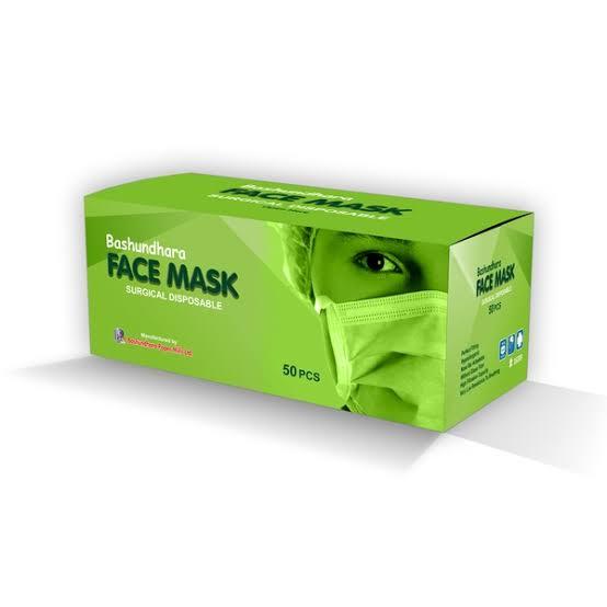 Bashundhara Face Mask (Surgical Disposable Economy ) 50 Pcs