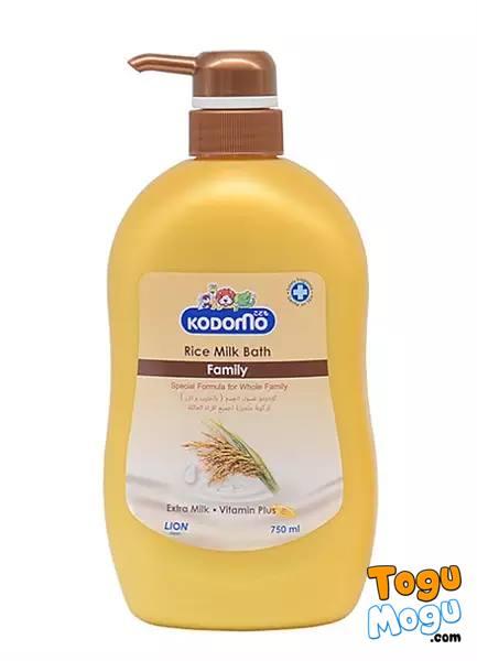 Kodomo baby rice milk bath family 750 ml