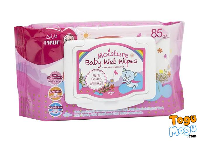 Farlin Baby Moisture Wet Wipes - 1 Pack of 85 Pcs