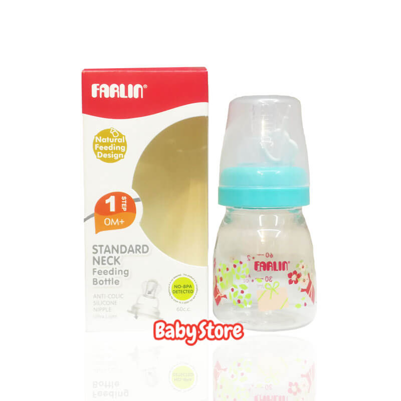 FARLIN Stadard Neck Feeding Bottle 0m+ (60ml/ 60cc) NF(205)
