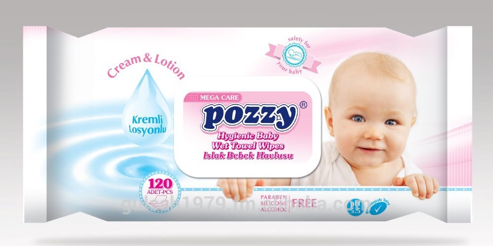 Pozzy Wipes (120 Pcs)