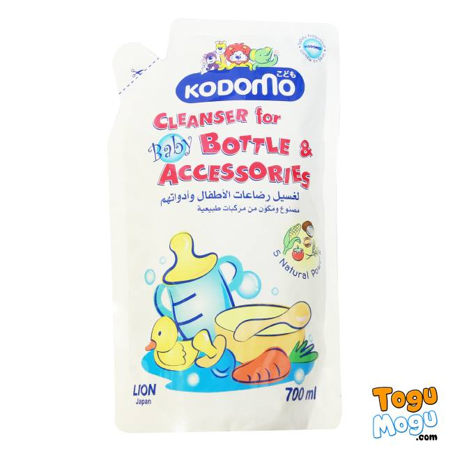 Kodomo Cleanser Baby Bottle and Accessories, 700ml (Refill)
