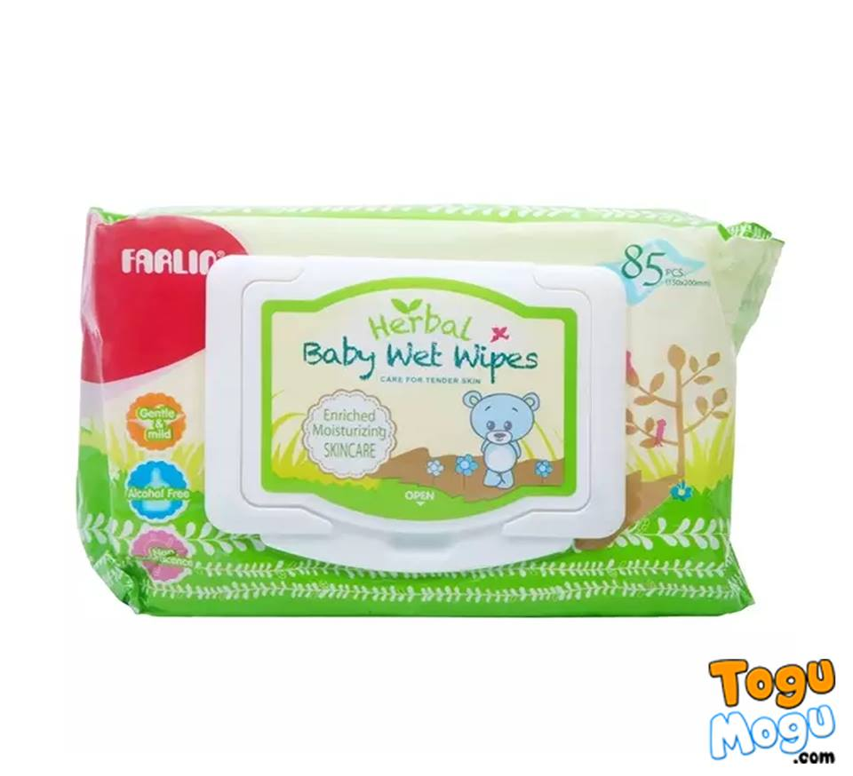 Farlin Baby Wet Wipes - 1 Pack of 85 Pcs