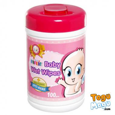 Farlin baby Wet Wipes 100 Pcs (Anti-bacteria)