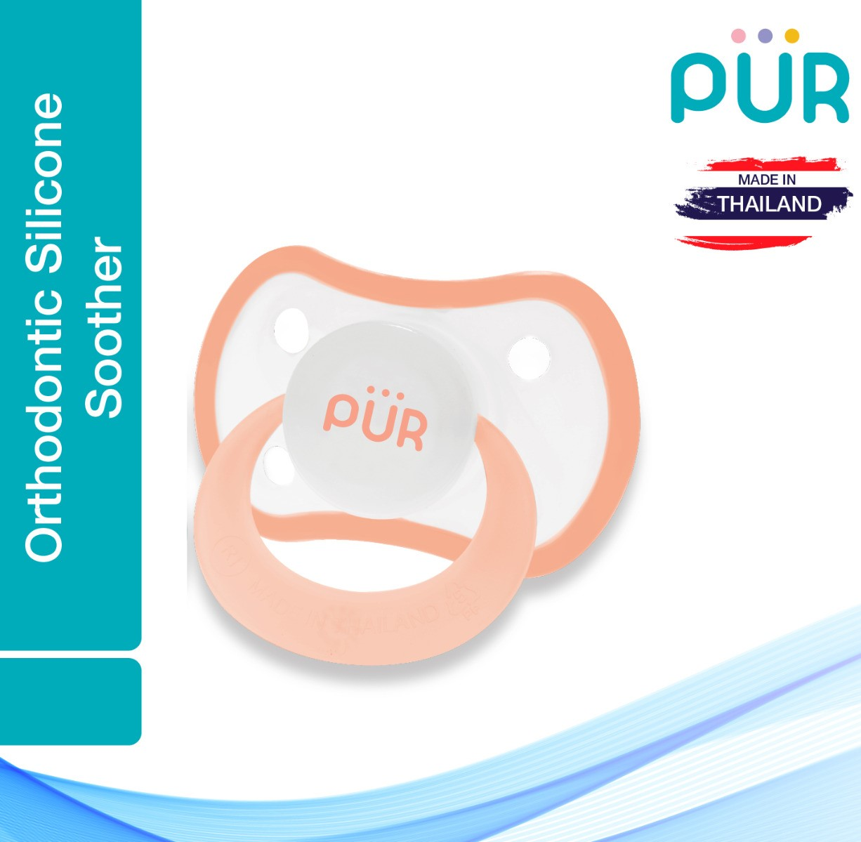 Pur Orthodontic Silicone Soother (6m+) – (14019)