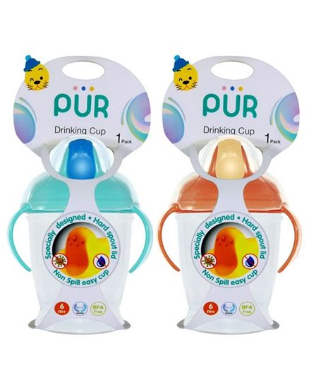 Pur Twin Handle Drinking Cup Walrus – 250 ml – (5506)
