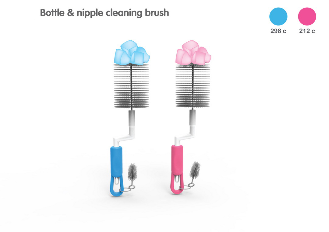 LION BOTTLE & NIPPLE ROTARY BRUSH BLISTER CARD SET