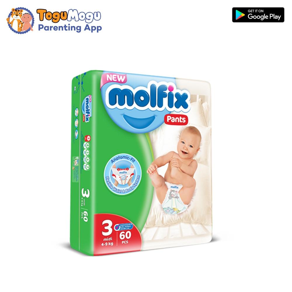 MOLFIX Pants Diaper JUMBO Midi 4-9kg 60 pcs
