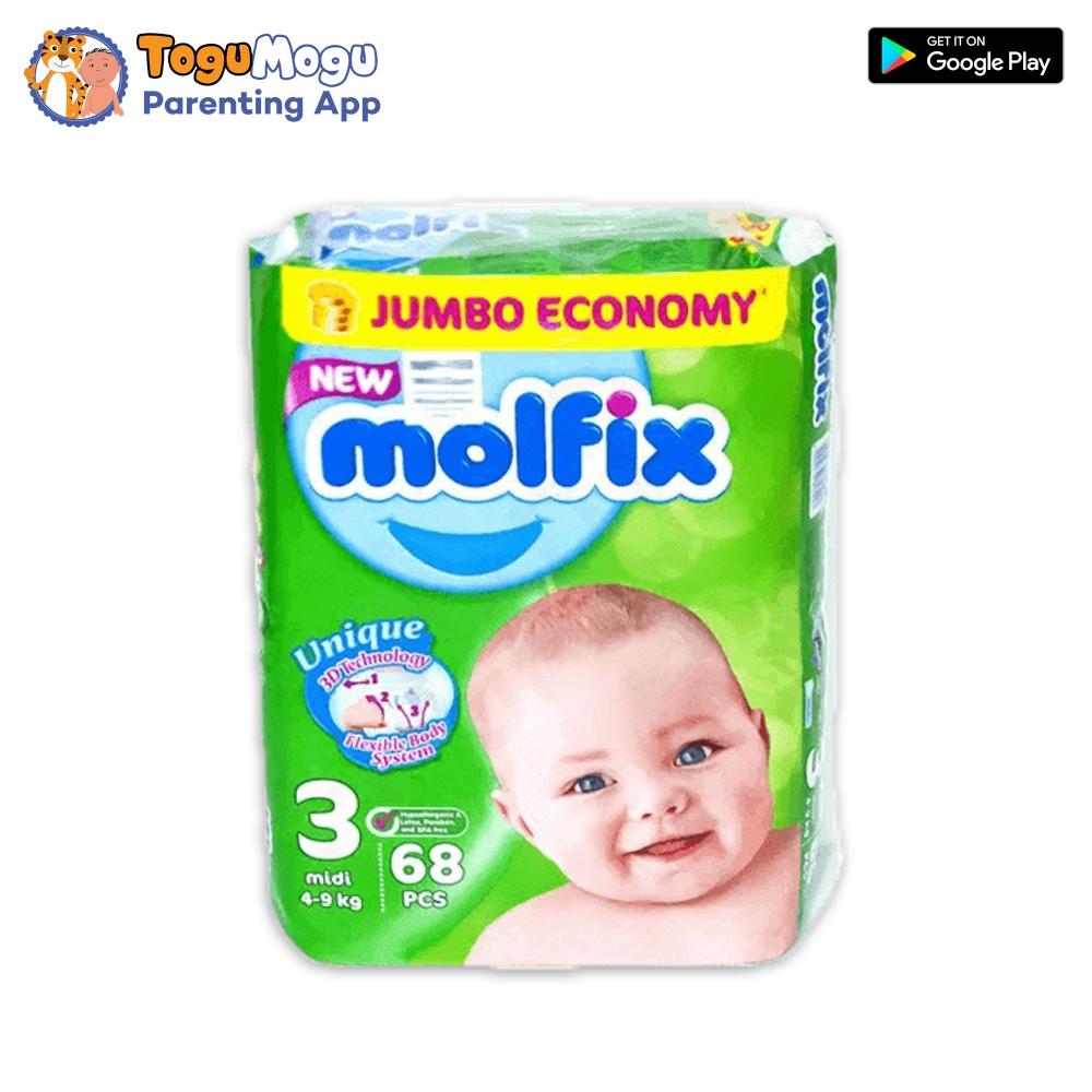 MOLFIX Belt Diaper JUMBO Midi 4-9kg 68 pcs