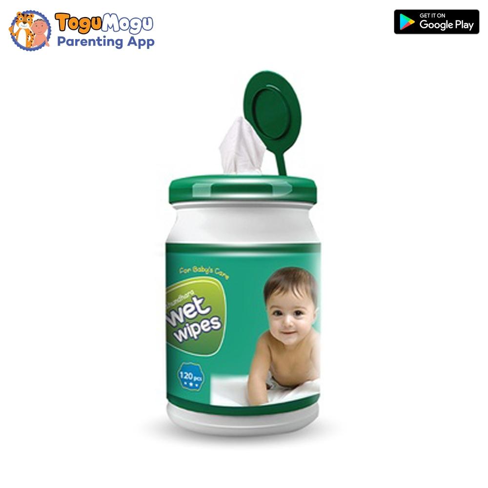 Bashundhara Baby Wipes Jar - 120 pcs