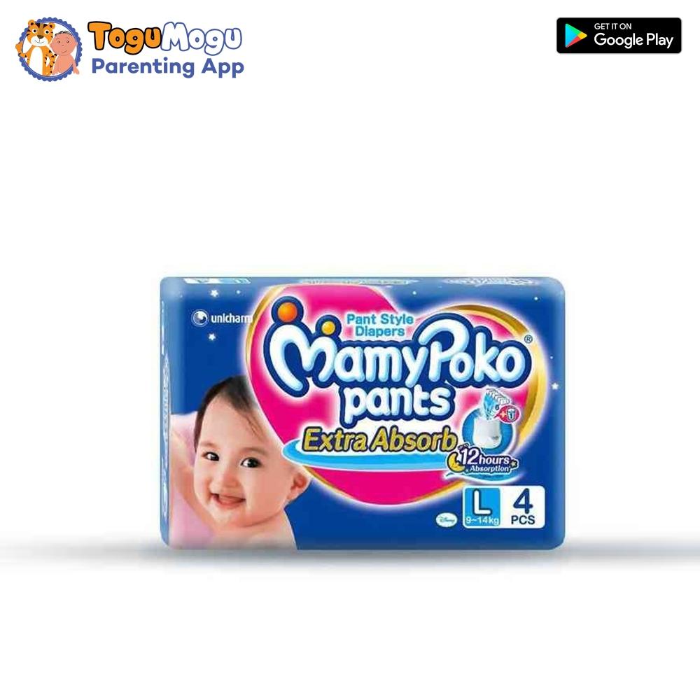 MamyPoko Pants L-4 Pcs(9-14kg)
