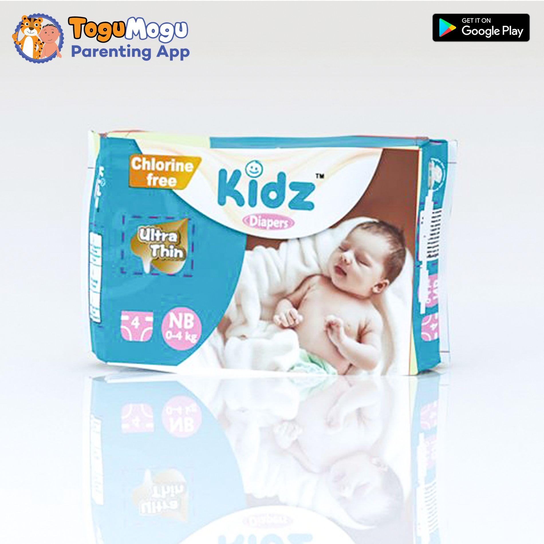 Kidz Diapers NB (0-4kg) 4pcs