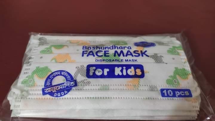 Bashundhara Face Mask for Kids (Surgical Disposable) 50 Pcs