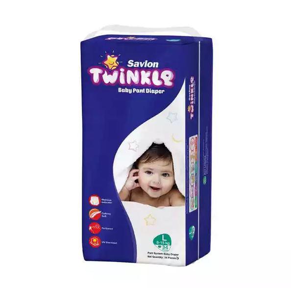 Savlon Twinkle Baby Pant Diaper L 8-15 kg