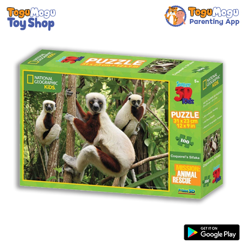 National Geographic 10507 Kids Lemur 3D Puzzle