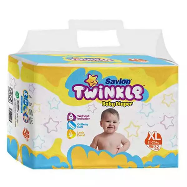 Savlon Twinkle Baby Belt Diaper XL 11-25 Kg