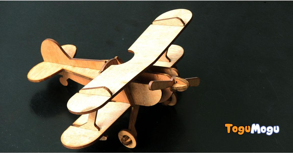 Vintage Biplane 3D Puzzle