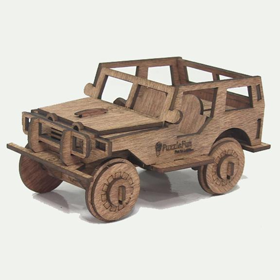Vintage Jeep (3d puzzle)